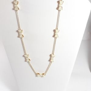 Kate Spade 'Take a Bow' Necklace in Cream